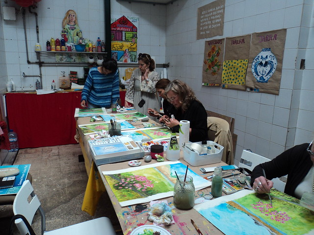 Watercolour workshop by me