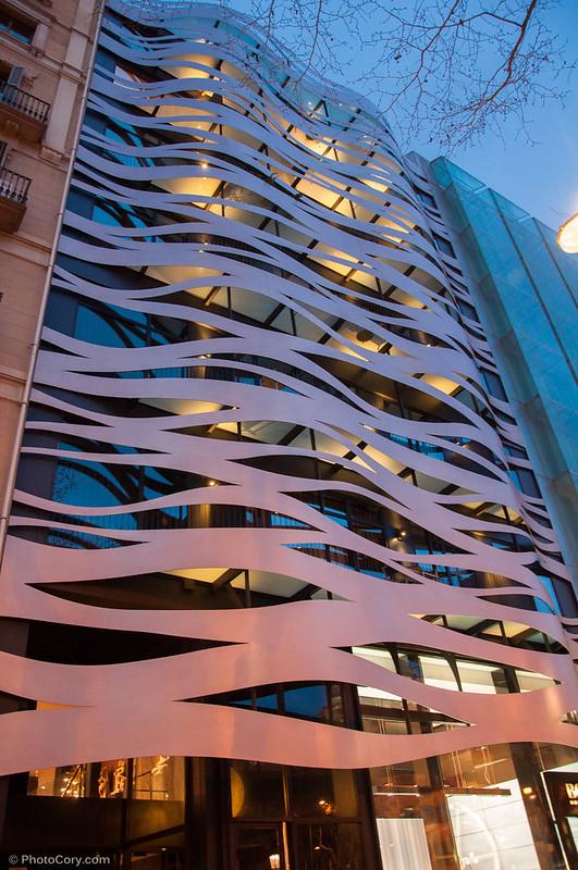 building on Passeig de Gràcia in Spain, Barcelona