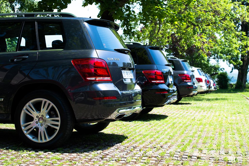 Mercedes Benz GLKs lined up
