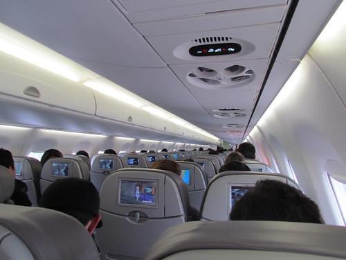 Interior do nosso Embraer 195, o PR-AYQ