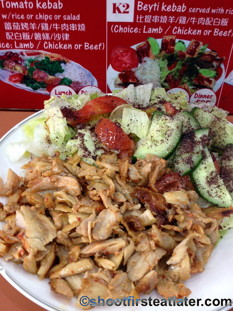Istanbul Express' salad with chicken donner