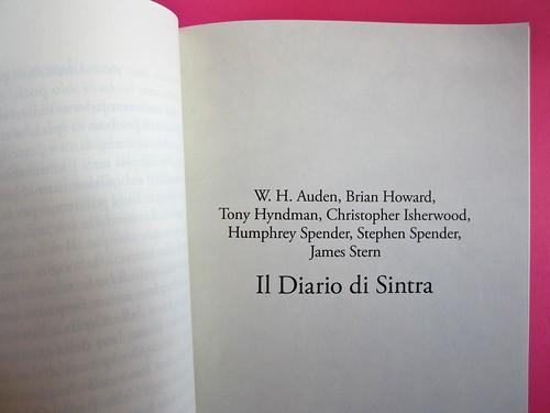 Auden, Isherwood, Spender, Il diario di Sintra; a cura di Matthew Spender e Luca Scarlini. In cop.: W.H.Auden, S. Spender, C. Isherwood, 1929. [resp. grafica non indicata]. p. 29 (part.), 1
