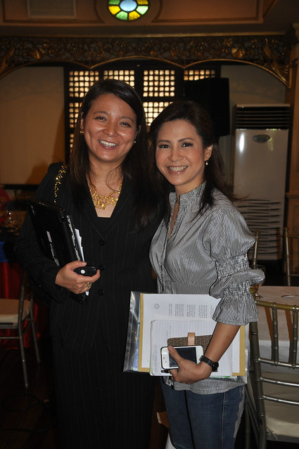 Rizza Maniego-Eala and ABS-CBN news reporter Jing Castaneda