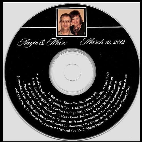 Our Wedding CD Favor