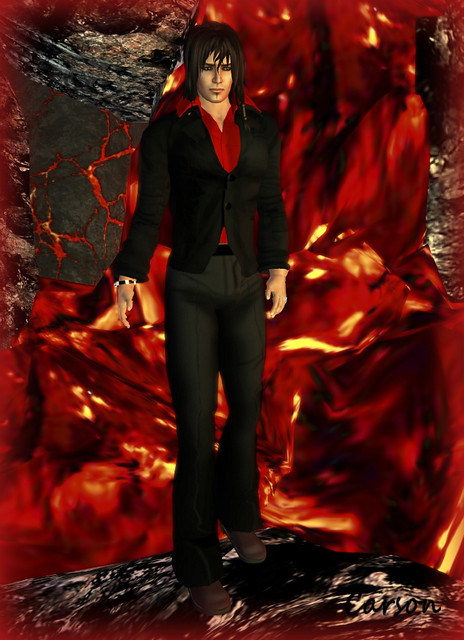 Vero Modero - Mr. Hunt Black and Red Outfit, Duh! Maroon Dress Shoes, PEER Jewelry - Demez Bracelet