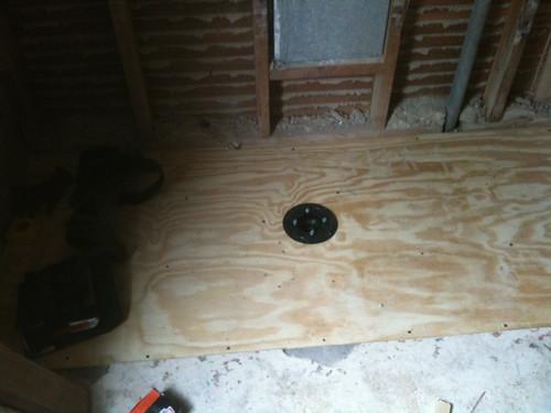 Bathroom Remodel: Day 8, Shower Drain!