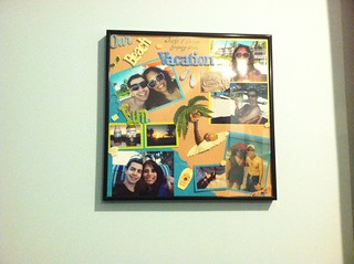Scrapbook Page in Frame