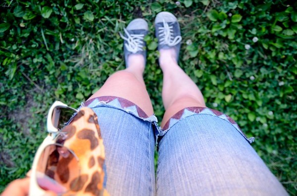 DIY Mod Podge Geometric Shorts