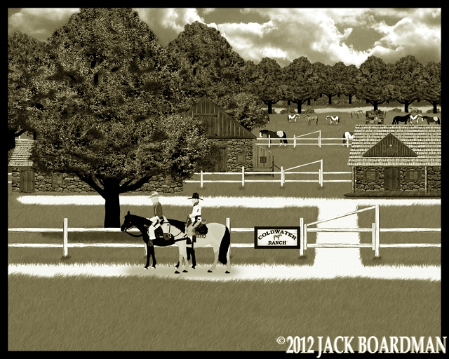 Boomer & Larry on their way to town ©2012 Jack Boardman