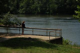 Glynda at the Broad River