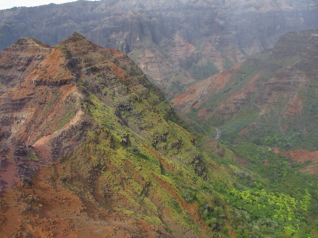 Waimea Canyon from heli 7