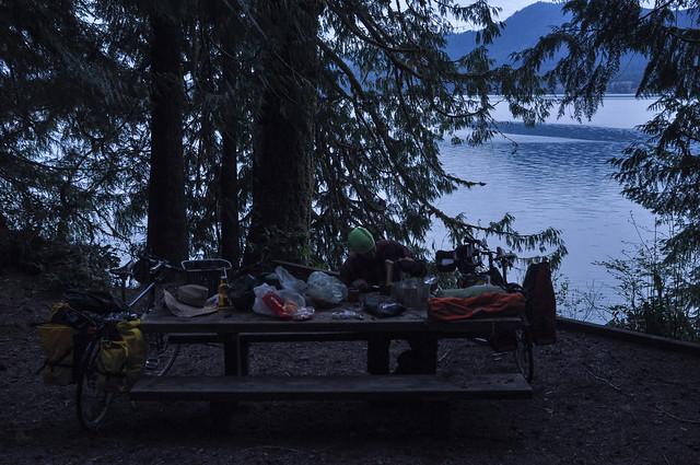 Bear baiting at Lake Quinault