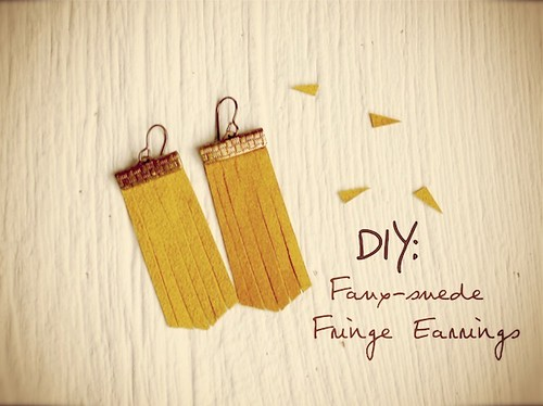 DIY Fringe Earrings
