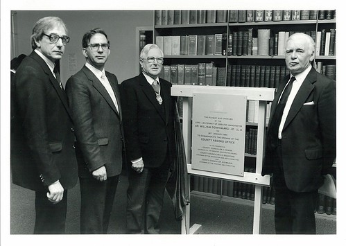Opening the Greater Manchester County Record Office, 26 Jan 1984
