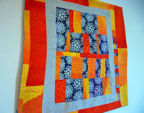 orange mini quilt