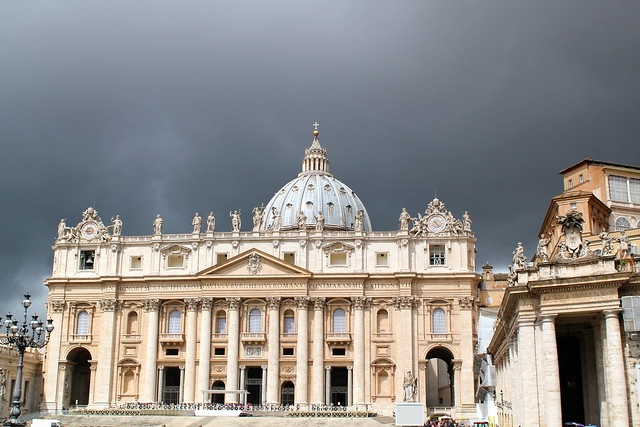 St Peter's Basilica in the rain