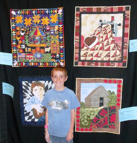 My quilt display (and model) at HMQS! by ruthiequilts