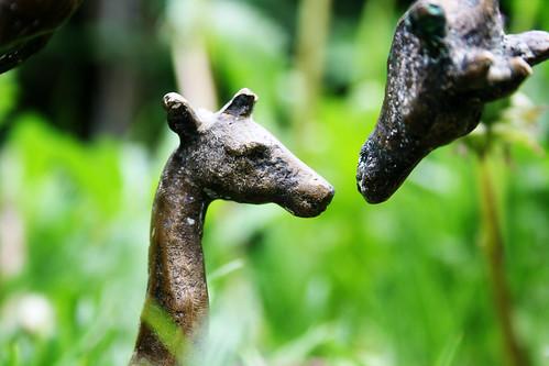 """Giraffen-Plastik / fotografiert für das Projekt """"Sichtwechsel"""""""