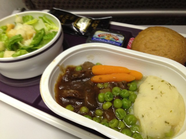 Braised beef and mashed potatoes - Virgin Atlantic