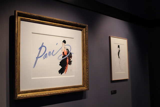 Not sure why the exhibition of the vogue illustrator
