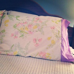 sweet pea vintage pillow cases are done. love them!