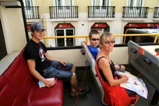 Vi tok skikkelig turistbuss