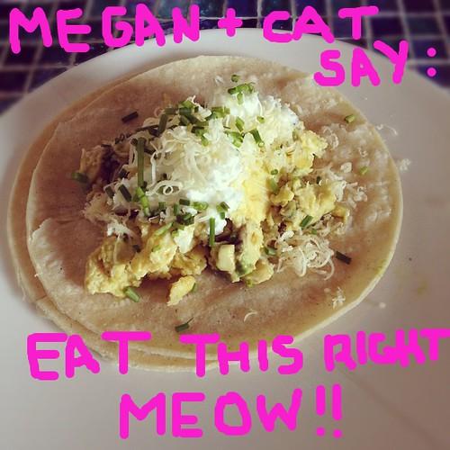 Delicious egg-y taco! #ididit #obhfood