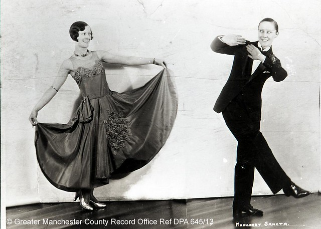 Peggy Cadman dancing with herself, c.1930