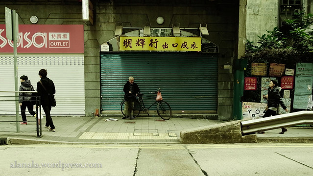 Old biker resting