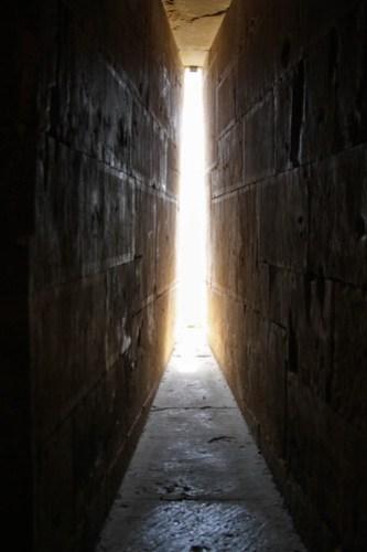 Narrow arrow slit windows in Castel del Monte