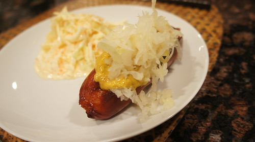 "Hebrew National ""Special"" with Mustard and Sauer Kraut"