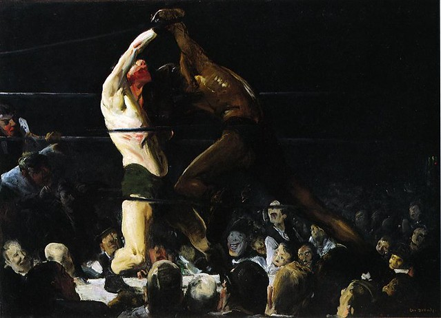 George Bellows, Both Members of This Club, 1909. Via Wikimedia.