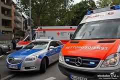 Messerstecherei nach Unfall Niederwaldstraße 01.06.12