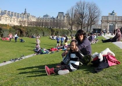 picnic at Lourve Garden
