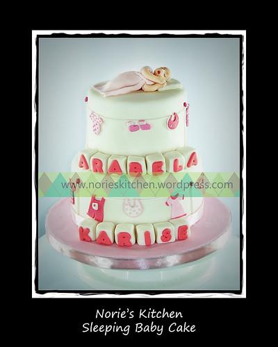 Norie's Kitchen - Sleeping Baby Cake by Norie's Kitchen