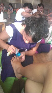 Igetting my nails done
