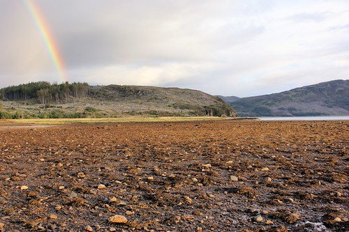 Rainbow over Skye seen from Balmacara