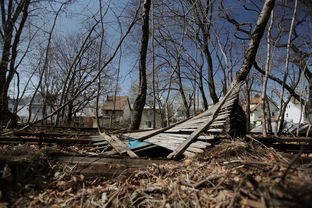 Rockaway Beach Branch Debris
