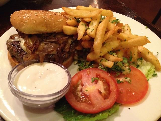 Lamb burger - Cafe Mystique