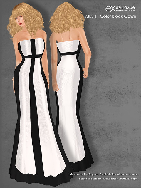 ezura + Color Block Gown