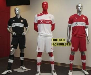 VfB Stuttgart PUMA 2012/13 Home, Away and Third Soccer Jerseys / Trikots / Football Kits