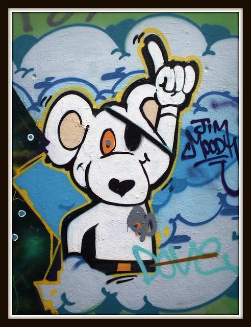 Leake Street, London graffiti