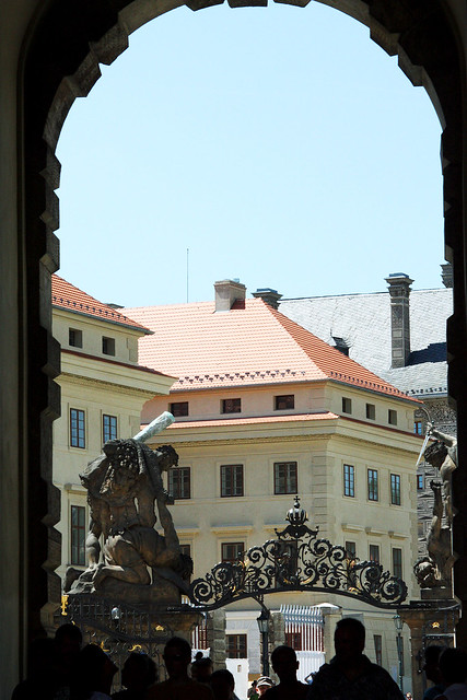 Looking into Prague Castle.