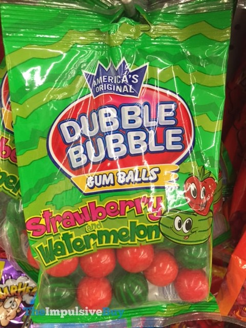 Dubble Bubble Strawberry and Watermelon Gum Balls