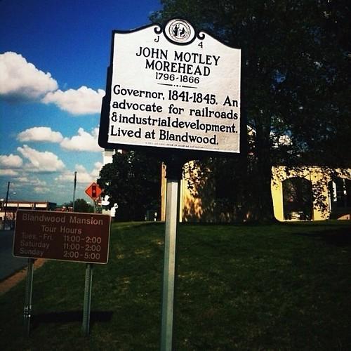 "JOHN MOTELY MOREHEAD - ""Blandwood"" by Greensboro NC"