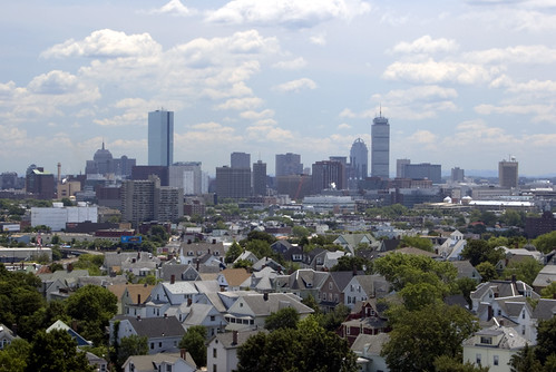 View or Boston from Somerville by drobi_123