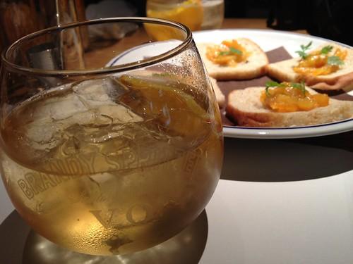 最初の一杯とスプリッツアーのオレンジを使ったジャム@新 つくって楽しい!ブランデースプリッツァー講座