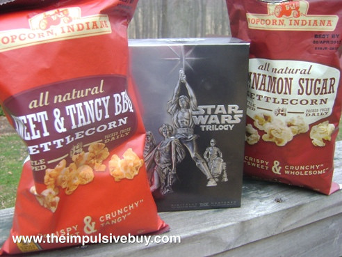 Popcorn, Indiana Classic Popcorn Cinnamon Sugar and Sweet and Tangy BBQ