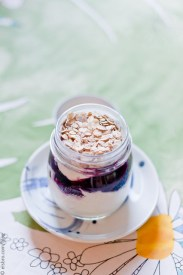 Yoghurt with Blueberries & Toasted Oats