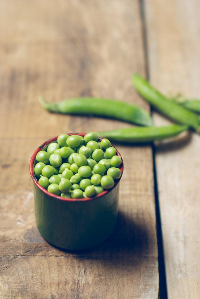 green peas · guisantes
